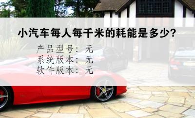 小汽车每人每千米的耗能是多少?
